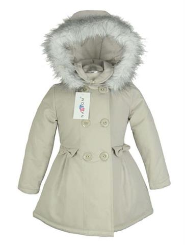 jacket, coat for girls, autumn, winter, nat & tom, Polish production, buttoned, with hood